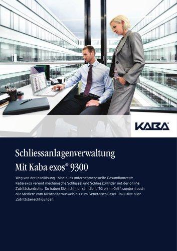 Schliessanlagen-verwaltung Mit Kaba exos® 9300