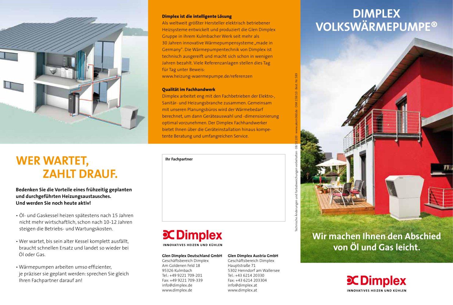 Flyer Volkswärmepumpe - Dimplex, Geschäftsbereich der Glen Dimplex ...