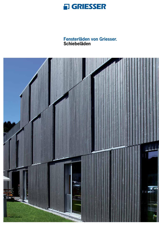 Schiebeläden Griesser Griesser Pdf Katalog Beschreibung Prospekt