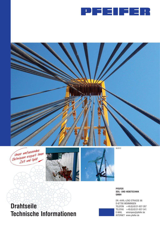 Prospekt DS-TechInfo 2013 - PFEIFER - PDF Katalog | Beschreibung ...