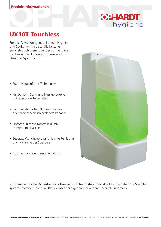 UX10T Touchless - OPHARDT Hygiene-Technik GmbH + Co. KG - PDF ...
