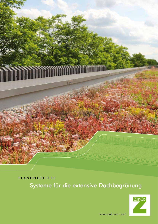 systeme für die extensive dachbegrünung - zinco gmbh - pdf katalog