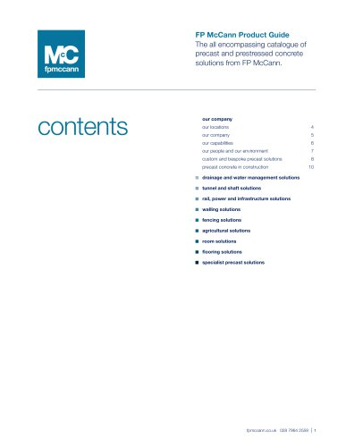 FP McCann Product Guide
