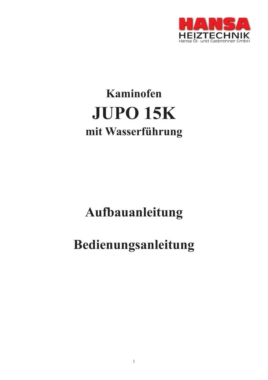 Kaminofen JUPO 15K - Hansa Öl- und Gasbrenner GmbH - PDF Katalog ...