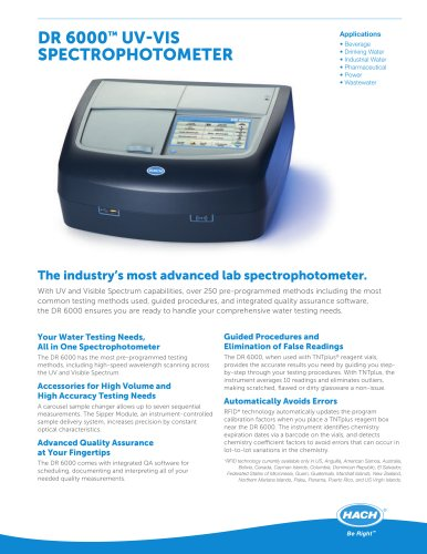 DR 6000 UV-Vis Spectrophotometer