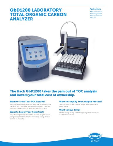 QbD 1200 TOC Analyzer