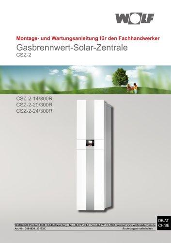 Gasbrennwert-Solar-Zentrale
