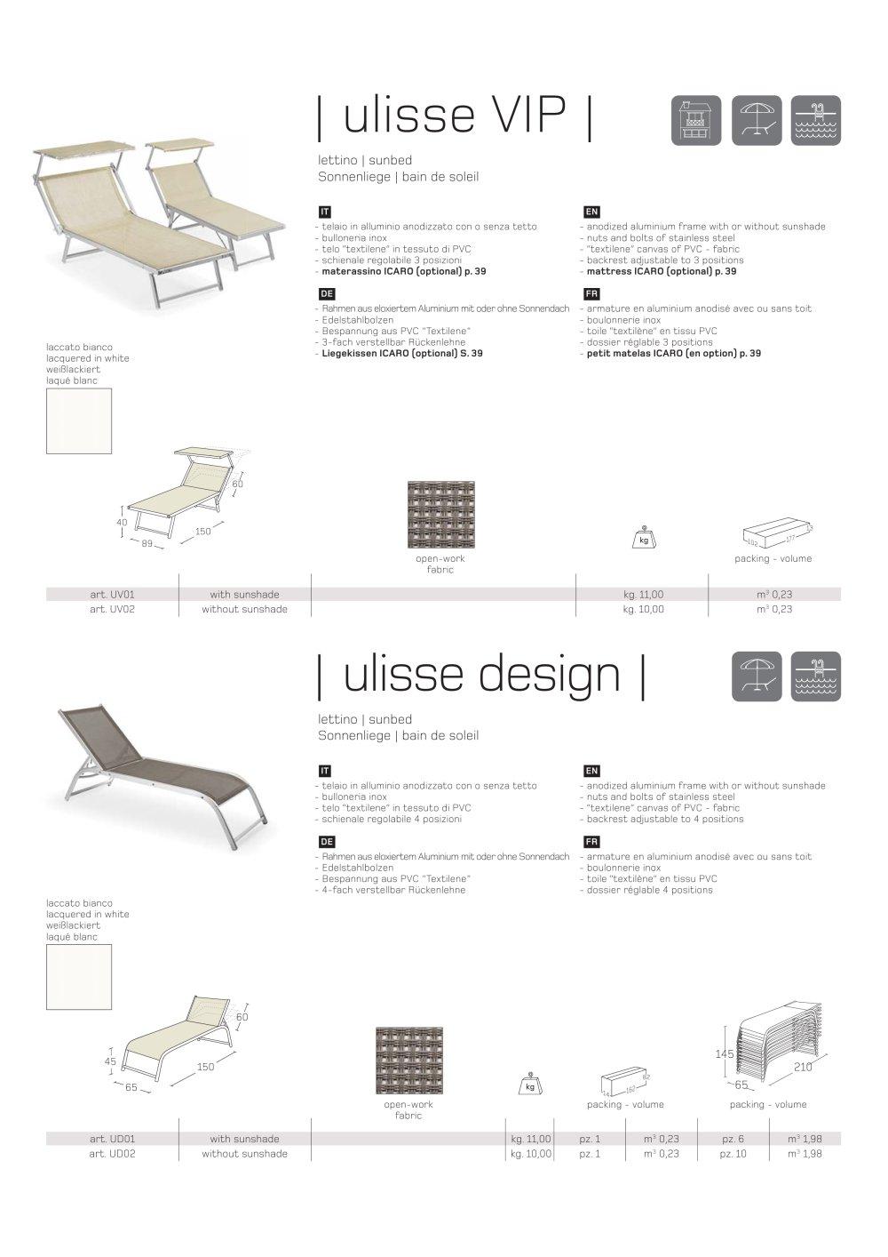 Ulisse VIP - Ulisse Design Technisches Arbeitsblatt - Ombrellificio ...