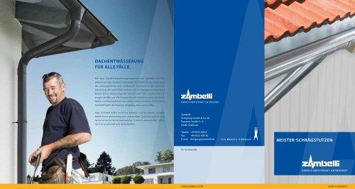Meister Schrägstutzen - Dachentwässerung
