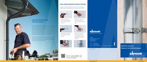Moderne Fallrohrbefestigung - Dachentwässerung