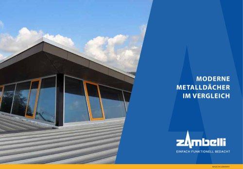 Moderne Metalldächer im Vergleich