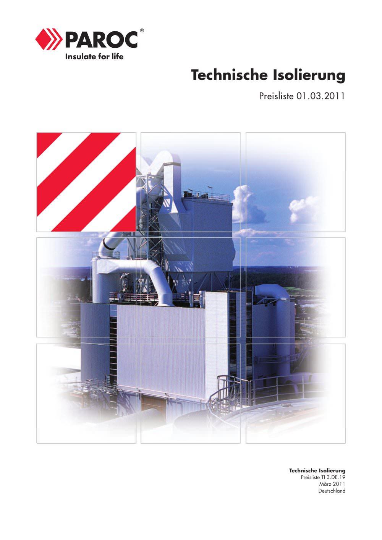Preisliste - PAROC - PDF Katalog | Beschreibung | Prospekt