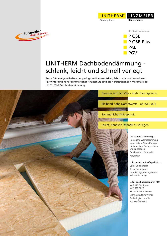 linitherm dachbodendämmung - schlank, leicht und schnell verlegt