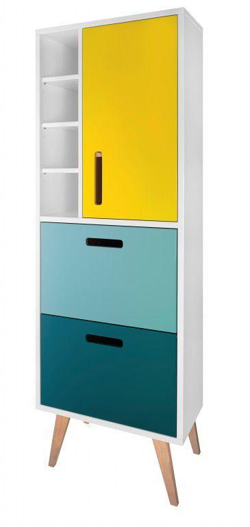 Moderner Badezimmer-Schrank / hoch / mit Schublade - COOL ...