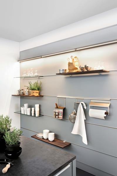 Wandmontiertes Regal / modern / Holz / für Küchen - ARTWOOD ...