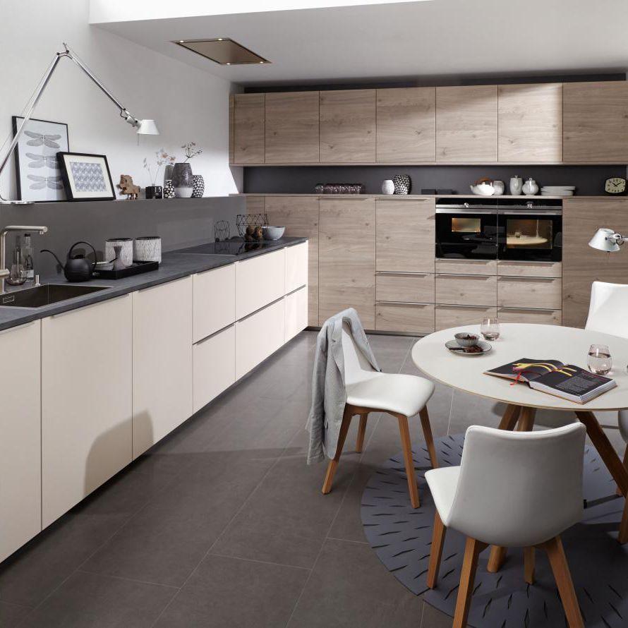 moderne küche - artwood platinum/ feel sahara - nolte