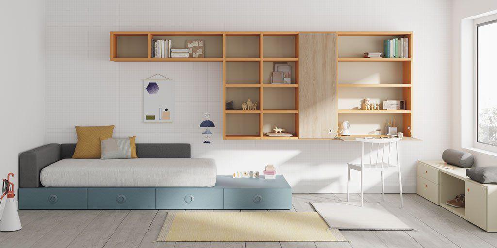 Wandmontiertes Regal / modern / Holz / Schlafzimmer ...