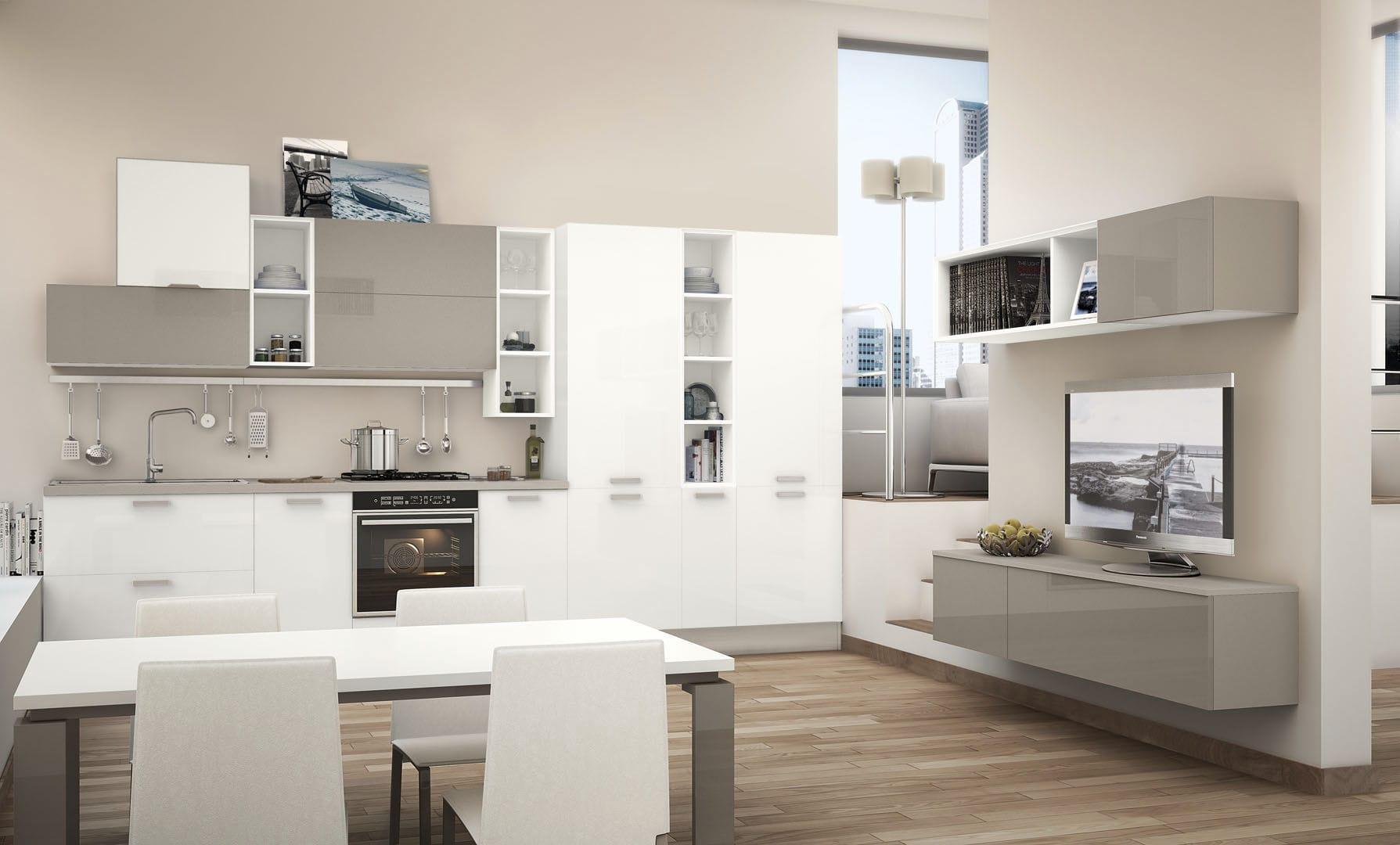 Moderne Küche / Holz / lackiert / matt - NOEMI - CUCINE LUBE ...