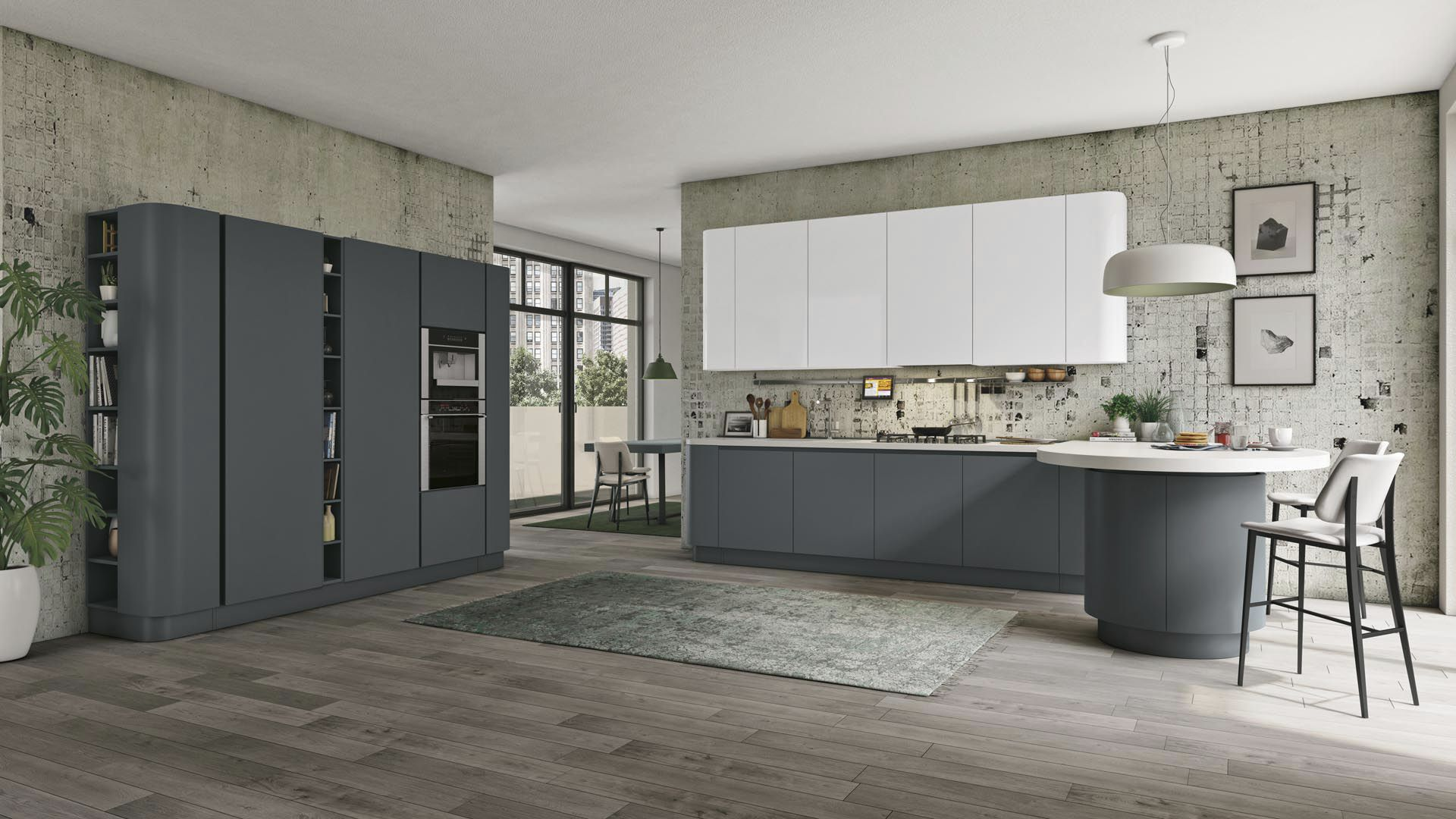 Moderne Küche / Holz / lackiert / matt CLOVER CUCINE LUBE
