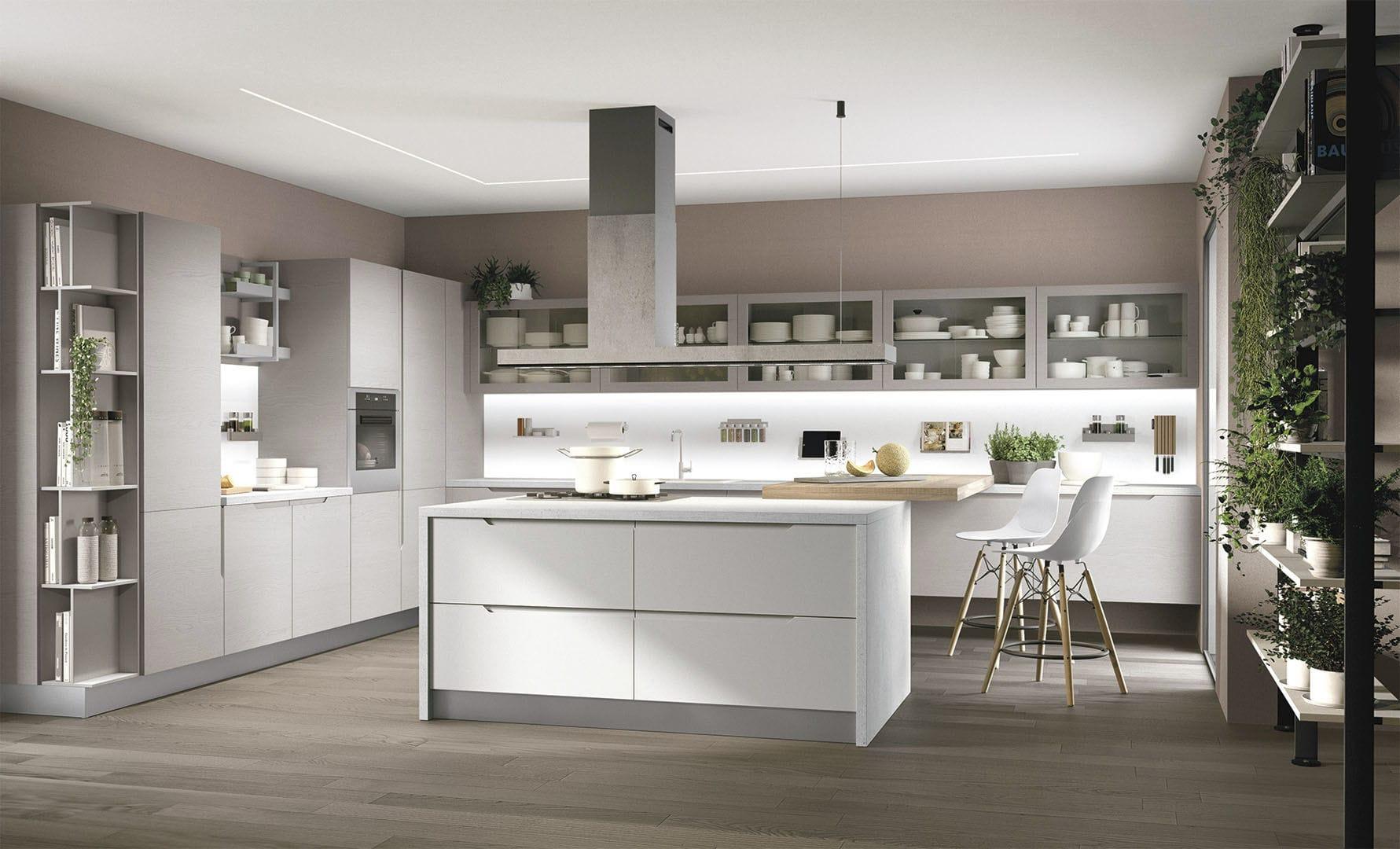 Moderne Küche / Holz / Kochinsel / lackiert - LUNA - CUCINE ...