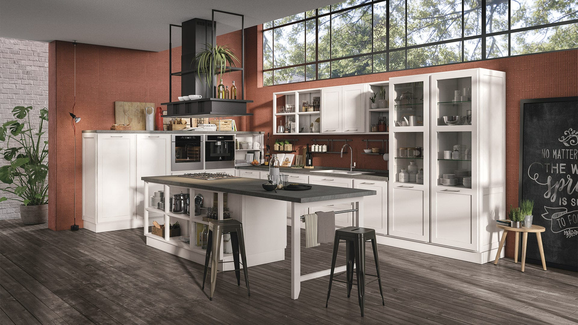 Moderne Küche / Holz / Kochinsel / mit Griffen - PROVENZA ...
