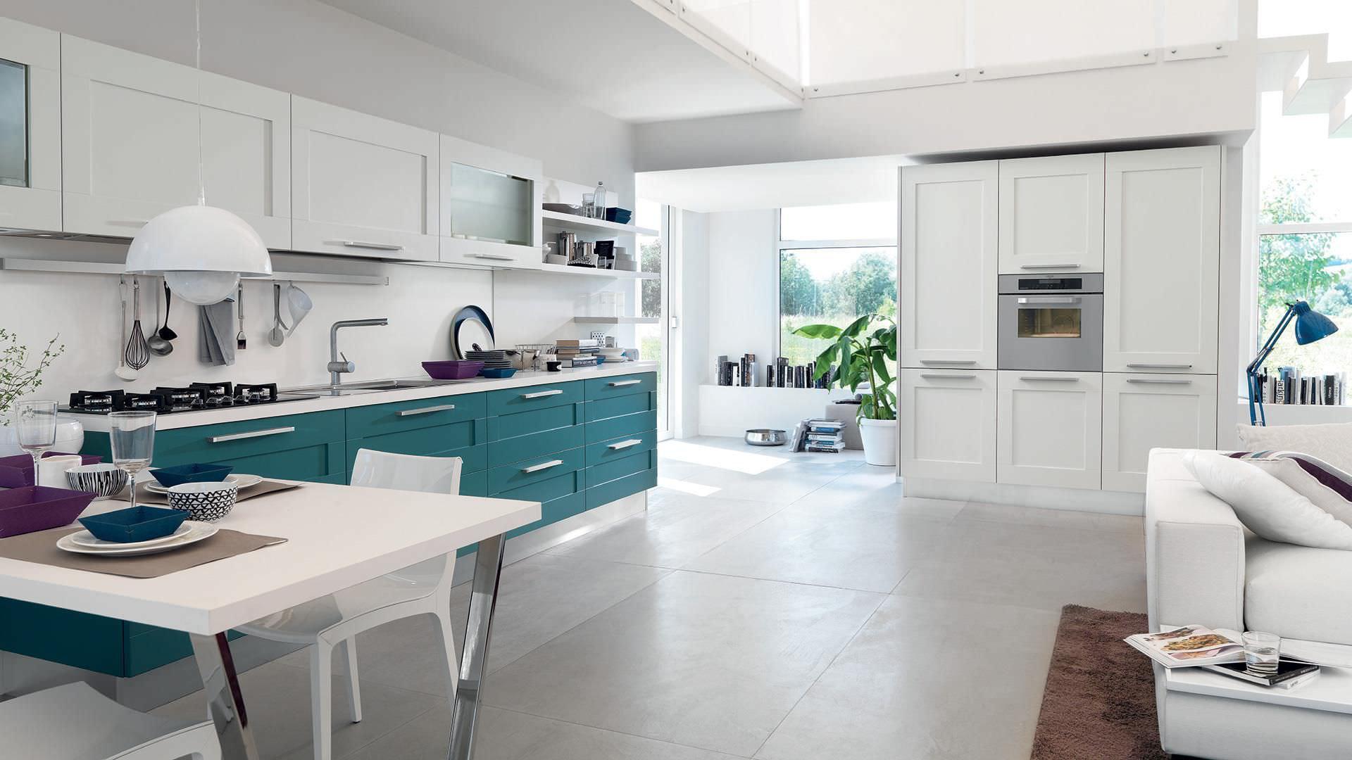 Moderne Küche / Holz / mit Griffen GALLERY CUCINE LUBE