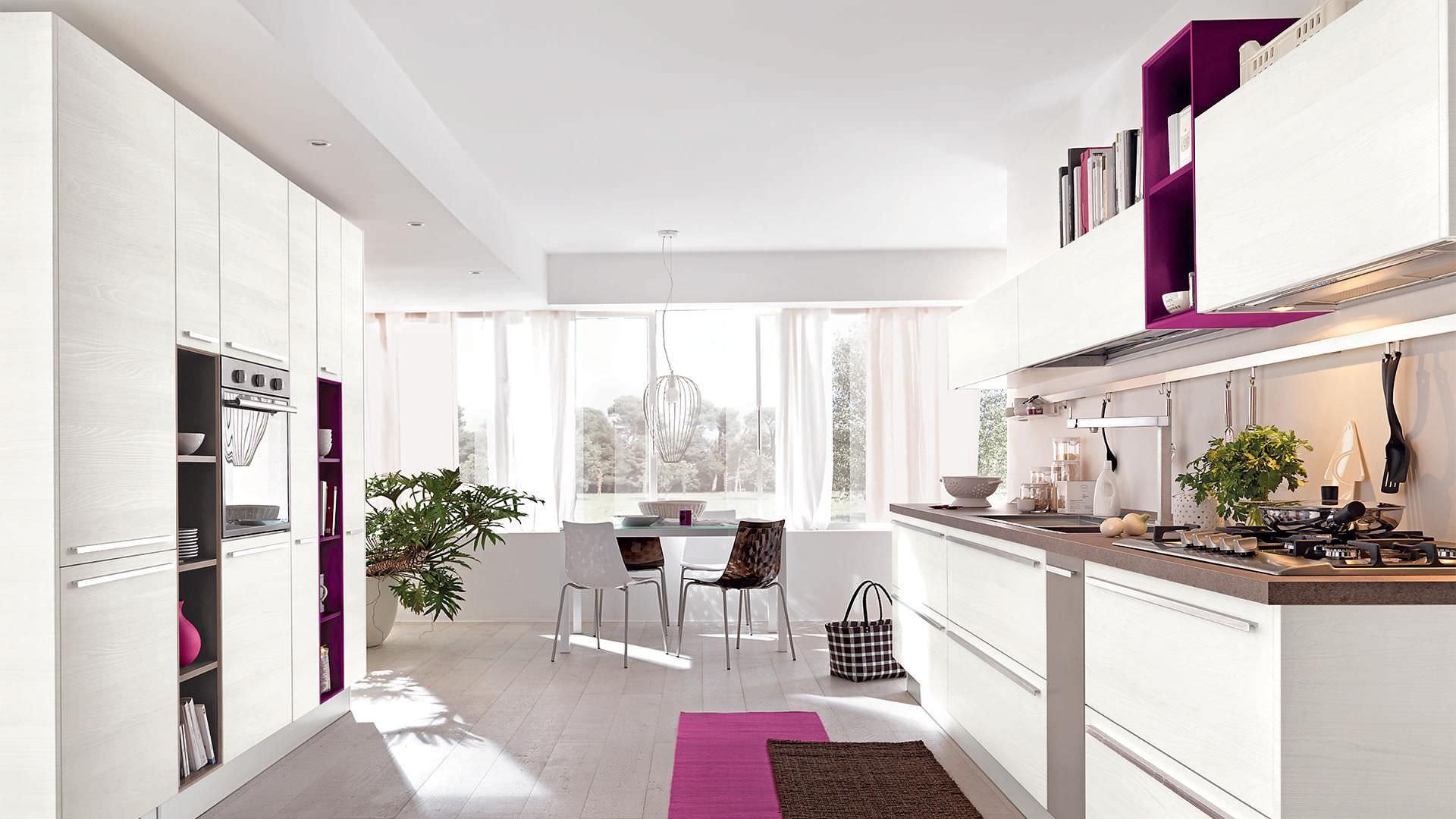 Moderne Küche / Holz / lackiert / matt NOEMI CUCINE LUBE