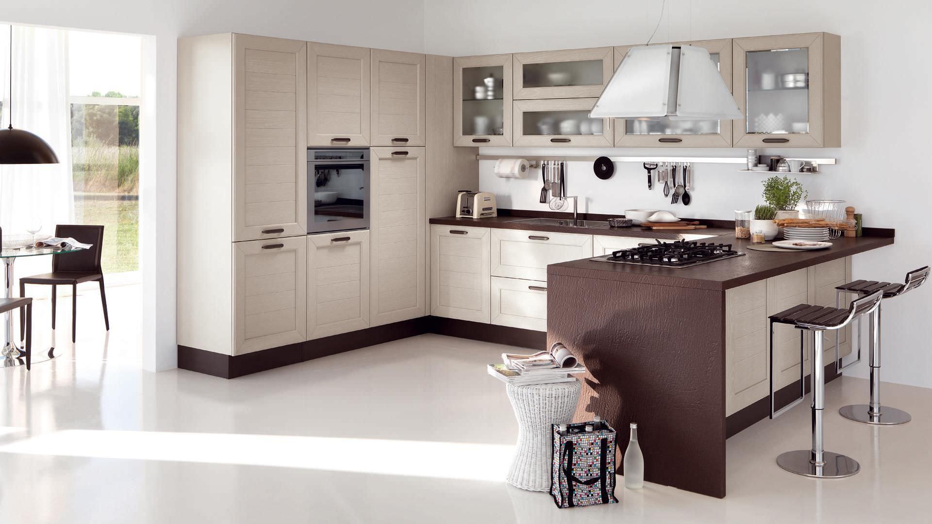 Moderne Küche / Holz / mit Griffen CLAUDIA CUCINE LUBE
