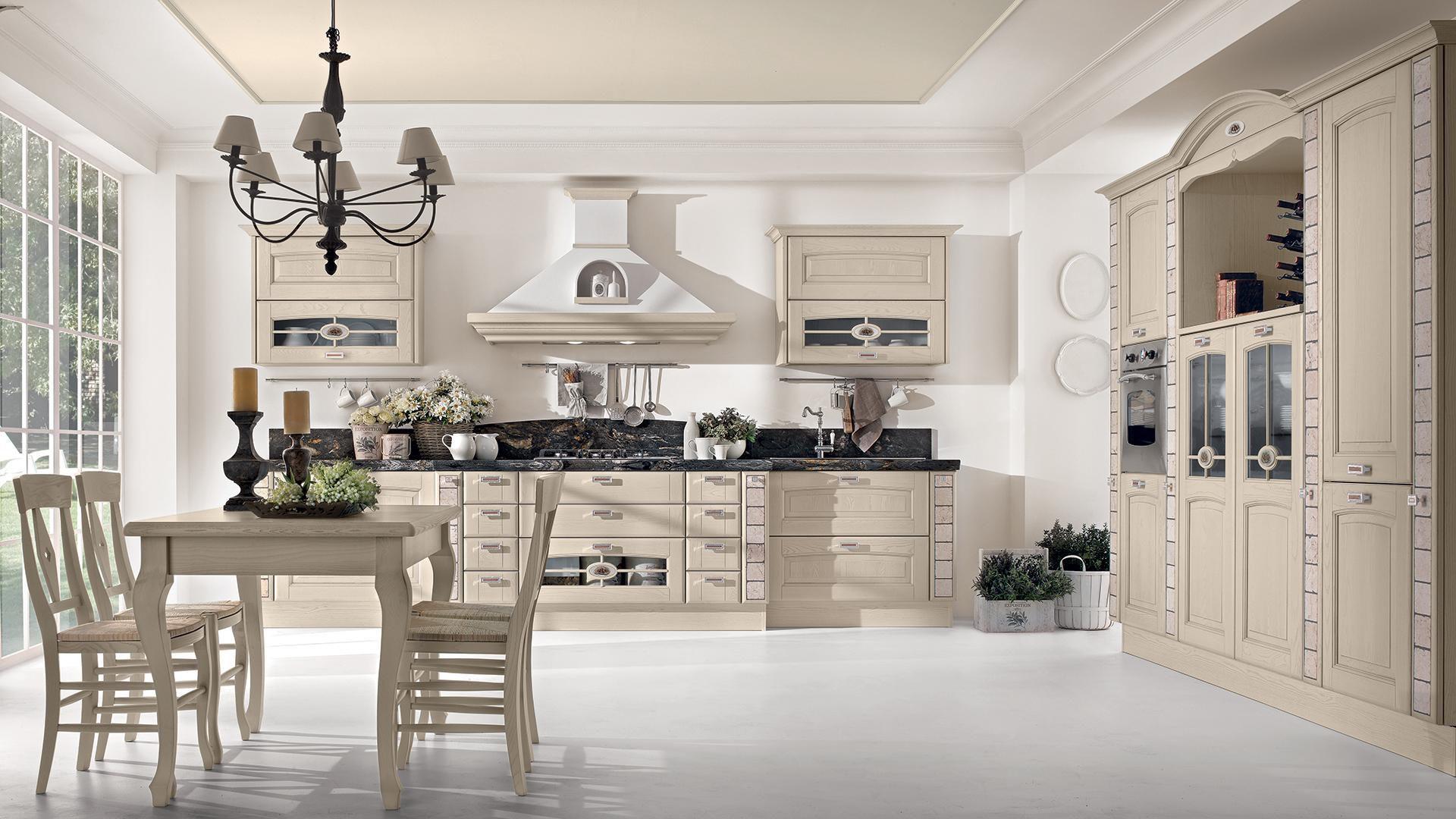 Klassische Küche / Holz / mit Griffen VERONICA CUCINE LUBE