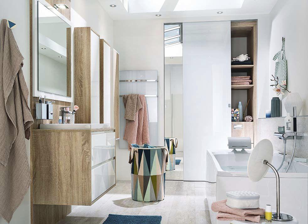 Modernes Badezimmer / aus Eiche / lackiert - AMBIANCE ...