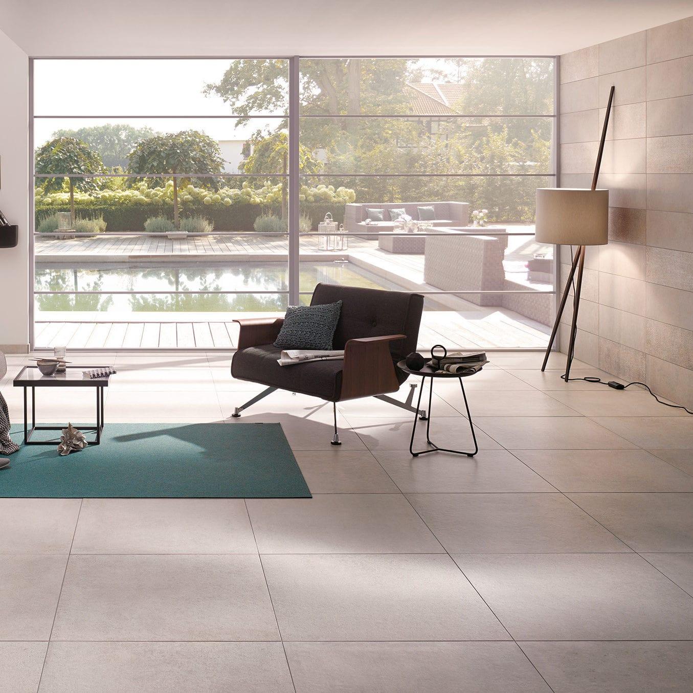 Innenraum-Fliesen / Wohnzimmer / für Böden / Wand - BETON ...