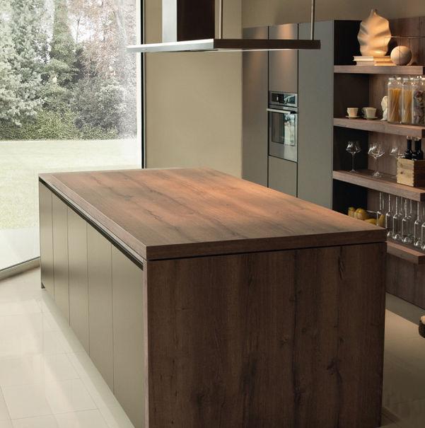 Moderne Kuche Holz Kochinsel Lackiert Arka Maistri