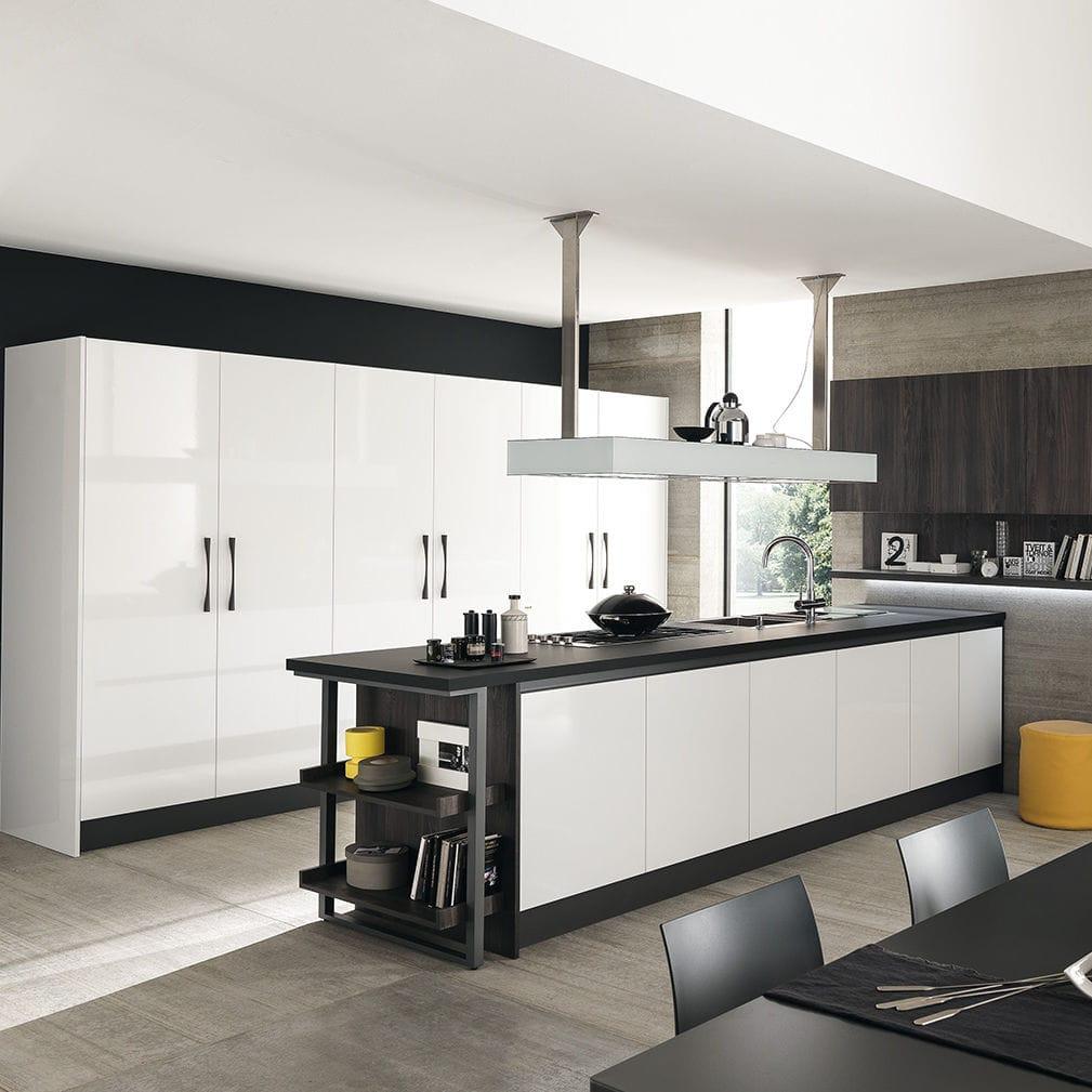 Moderne Küche / Glas / Laminat / Kochinsel - MARINA 3.0 by ...