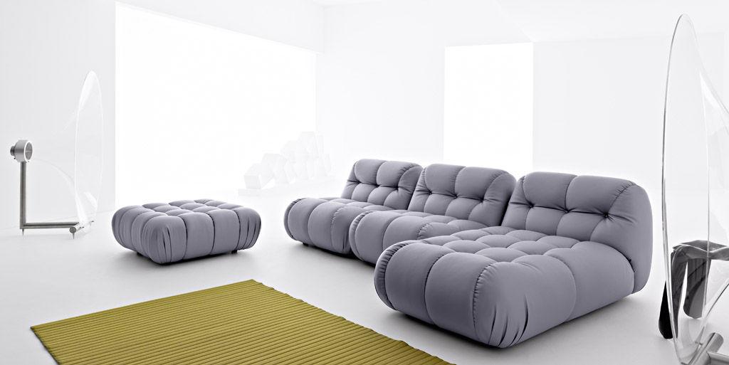 Modulsofa / modern / Leder / 3 Plätze - NUVOLONE - mimo