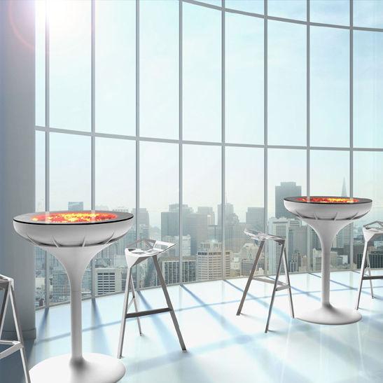Stehtisch Rund Glas.Stehtisch Originelles Design Glas Rund Außenbereich