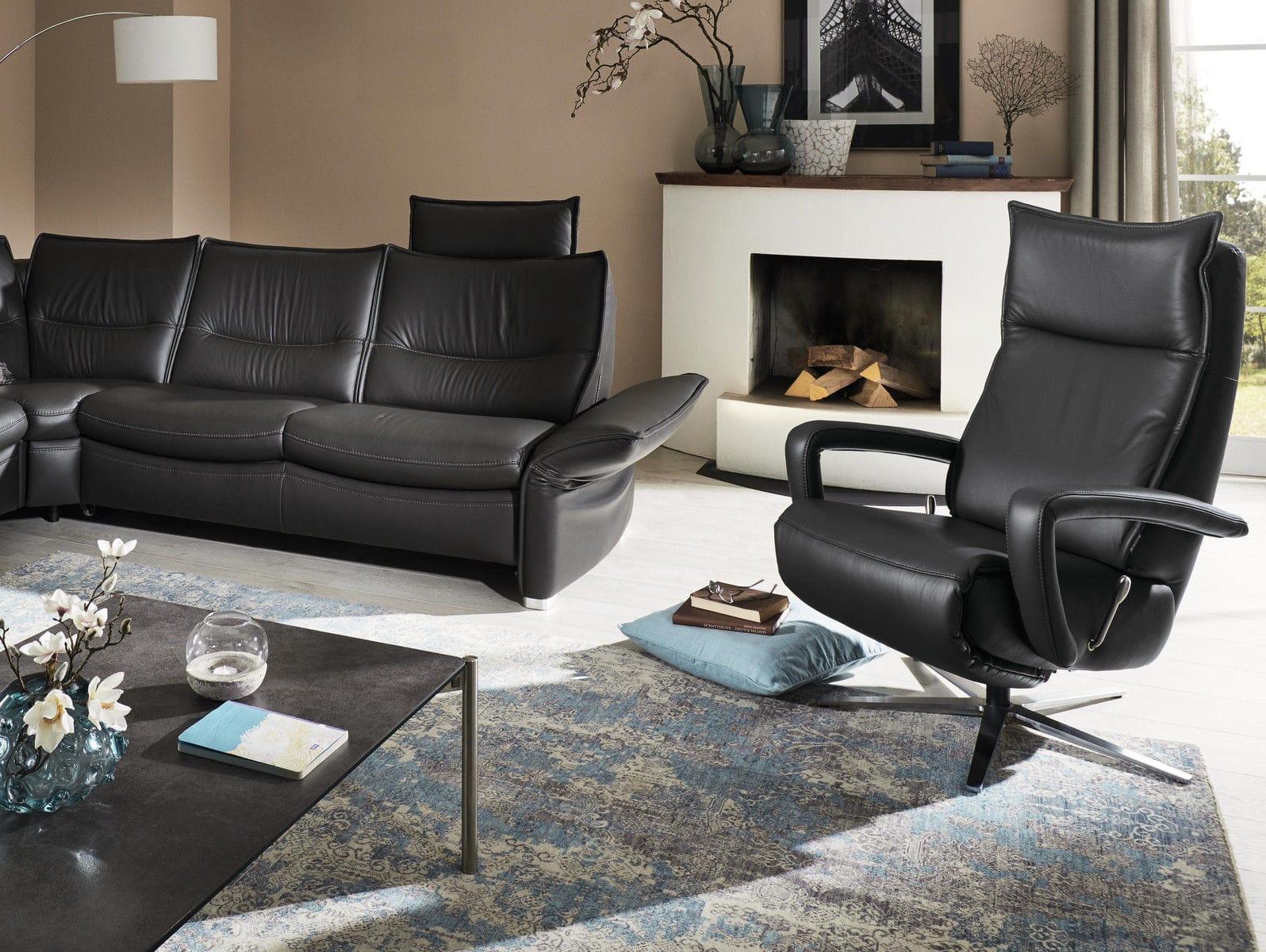 Moderner Sessel Leder Sternformiger Fuss Ergonomisch Mr 251