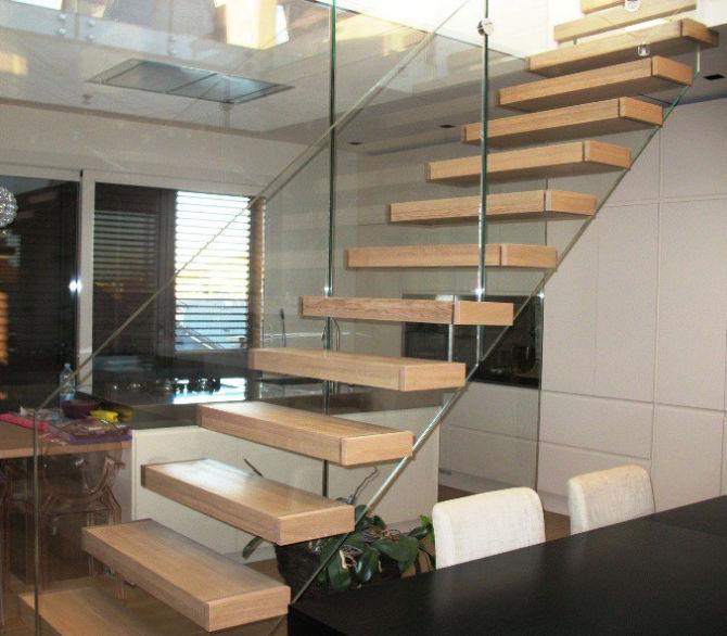 Gerade Treppe / Holzstufen / ohne Setzstufe / modern - EDI70 ...