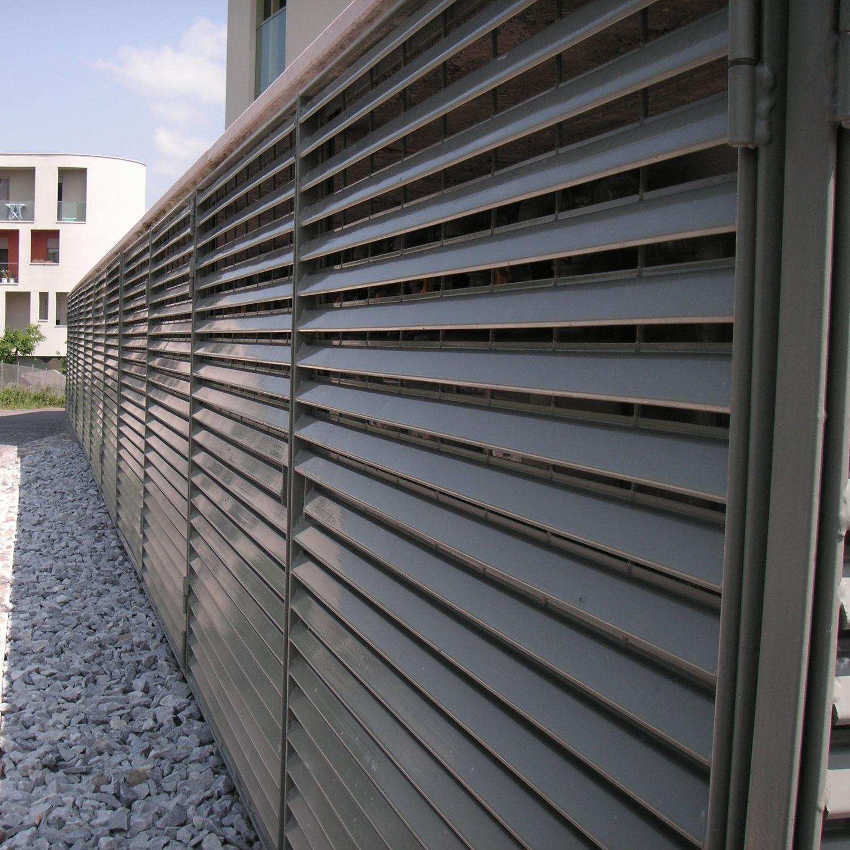 Turbo Sichtschutzzaun / Garten / Lamellen / verzinkter Stahl - CLASSIC UI34