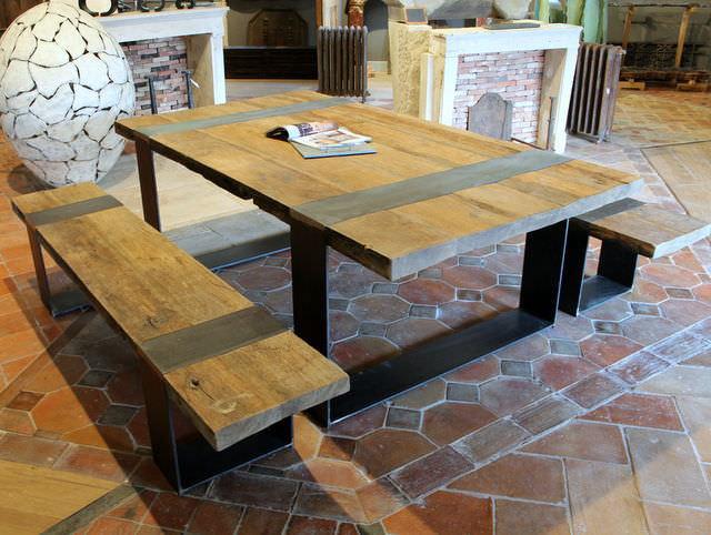Moderne Tischgarnitur / Holz / Außen / Garten - bca ...
