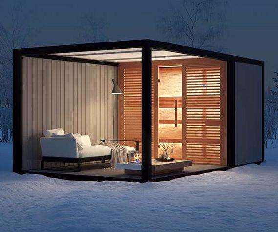 Berühmt Sauna für Privatgebrauch / Fertigbau / für den Außenbereich - Liviq NB61