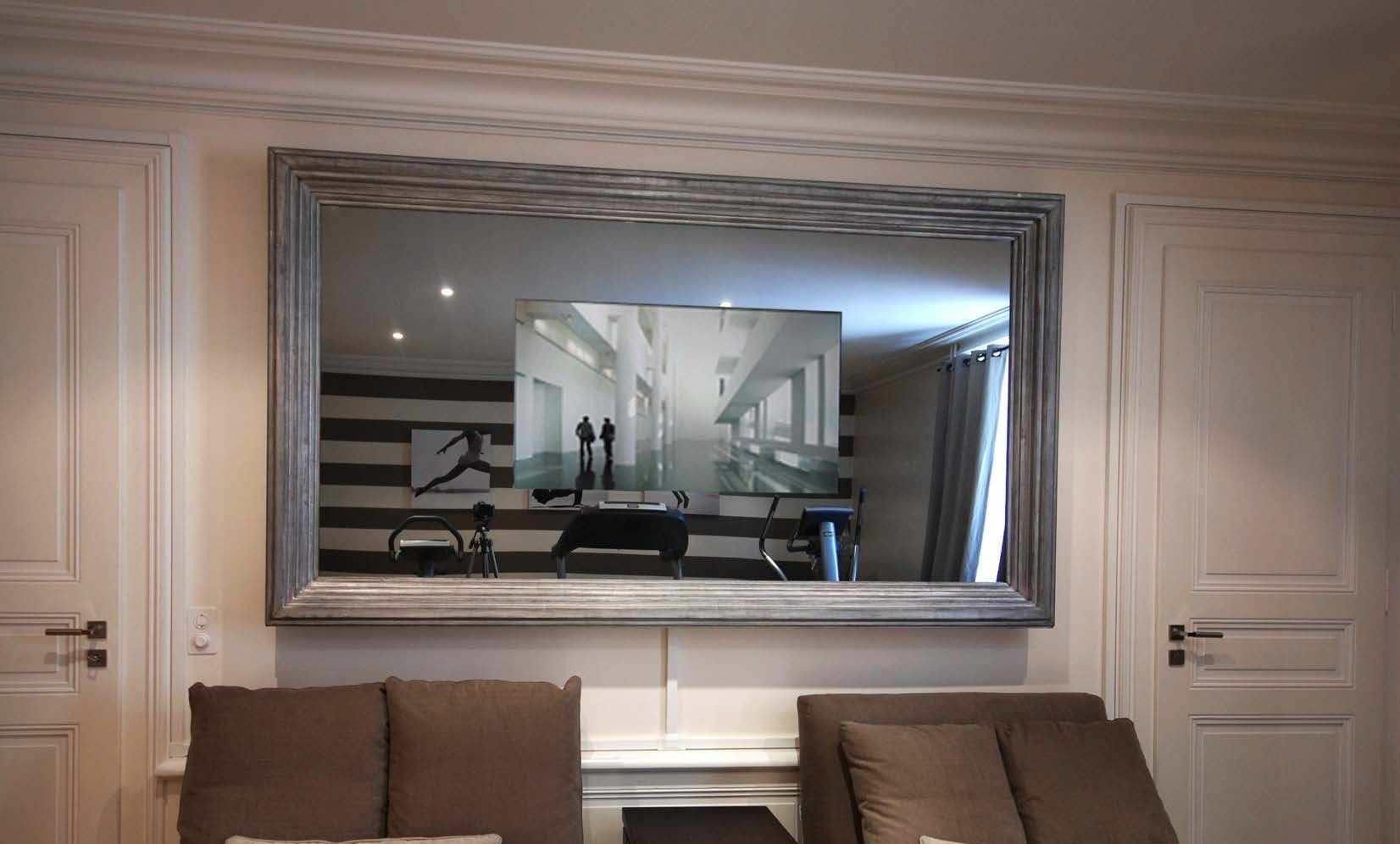 Wandmontierter TV-Spiegel / Wohnzimmer / Barock / rechteckig ...