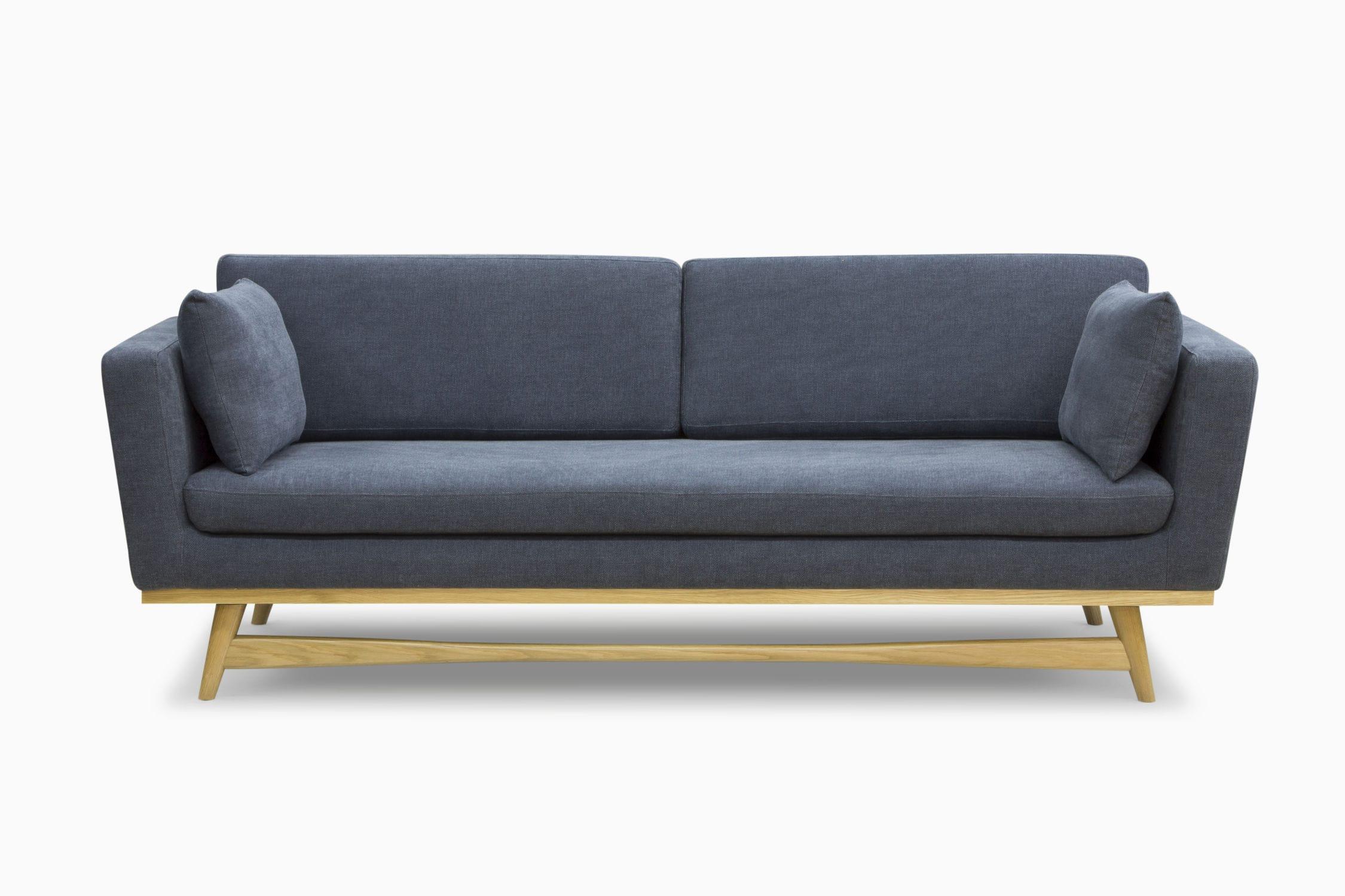 Sofa Skandinavisches Design Massivholz Stoff 3 Plätze
