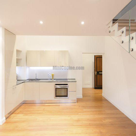 Moderne Küche / lackiertes Holz / L-förmig ...