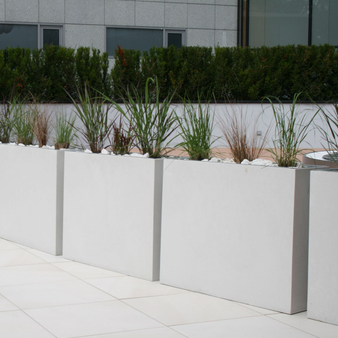 Pflanzkübel Aus Beton.Beton Pflanzkübel Rechteckig Modern Für öffentliche