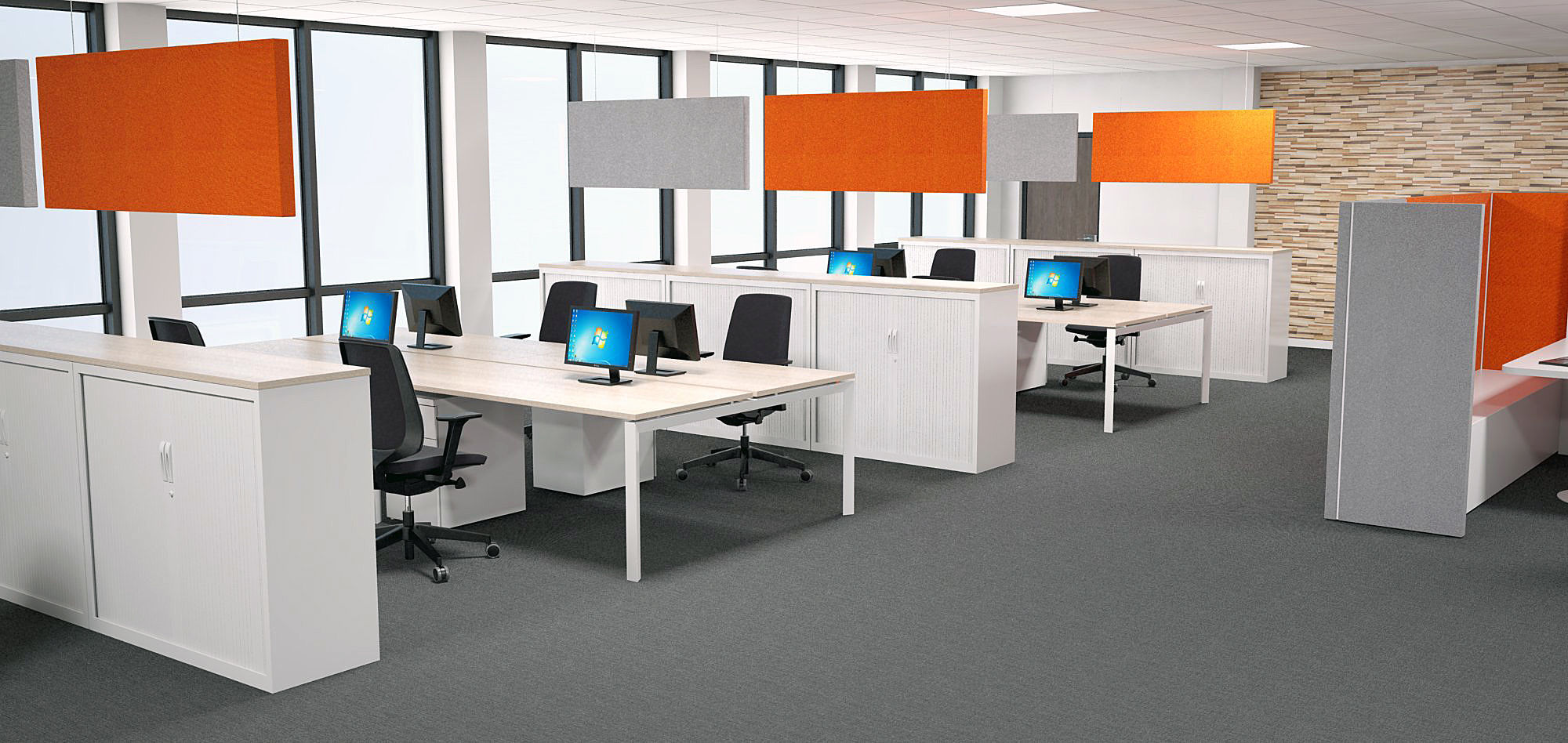 Relativ Hängende Trennwand / Stoff / Büro / Akustik - CAPSOUND - Espace HV75