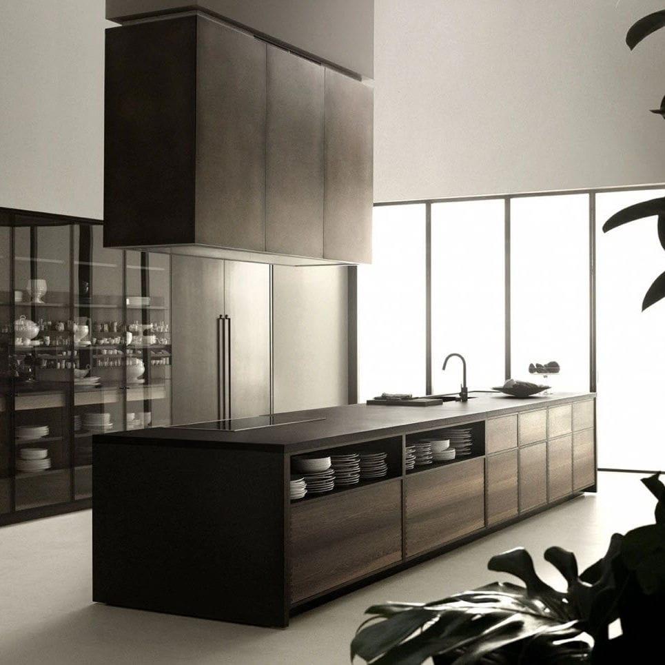 Moderne Küche - CODE - Boffi - Massivholz / aus Eiche ...