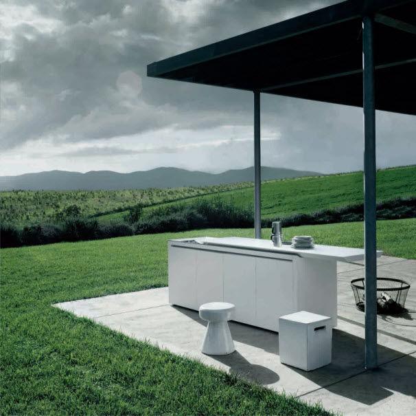 Moderne Küche / aus Eiche / Edelstahl / aus Corian® - K2 ...