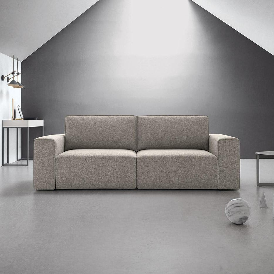 Modernes Sofa / Stoff / 2 Plätze / grau - BYRON - Felis s ...