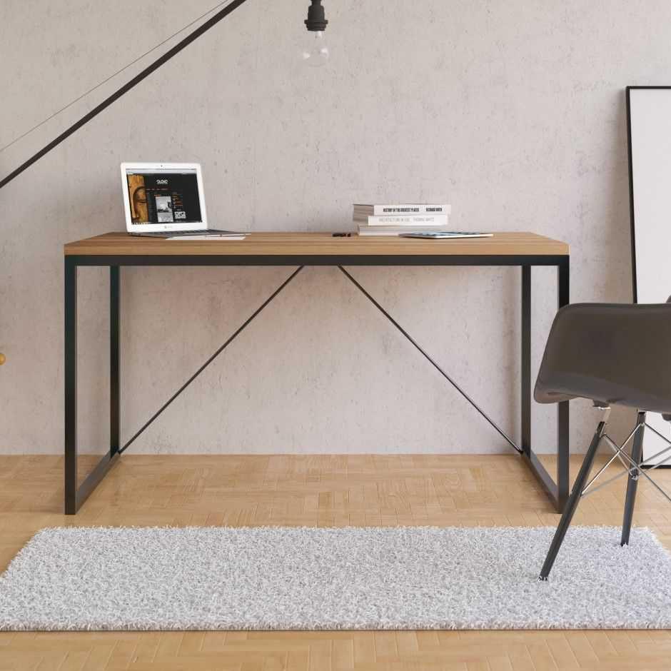 Schreibtisch aus Eiche / Metall / skandinavisches Design ...
