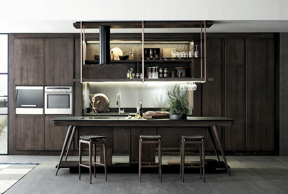 Moderne Küche / Holz / Eisen / Kochinsel - LA CUCINA - Shake ...